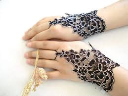 lace accessories exquisite blossom inspired gloves bytugce black lace accessories