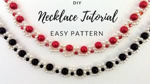 beading pattern necklace images Diy necklace elegant jewelry making tutorial two beaded jpg