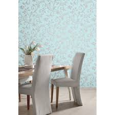 Live Love Laugh Home Decor Fine Decor Live Love Laugh Scroll Wallpaper Teal Silver Fd40288
