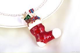 2017 new christmas boots brooches pins fashion santa claus high