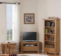 Devon Solid Oak Living Room Furniture Corner TV DVD Cabinet Stand - Oak living room sets