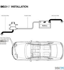 how to install big three upgrade with big 3 wiring diagram
