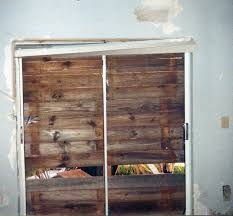 glass doors miami florida memory view showing damage around sliding glass doors