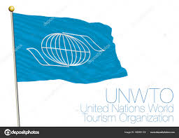 Picture Of Un Flag Unwto United Nations World Tourism Organization Flag And Symbol