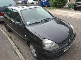 renault clio 1 2 16v expression 3dr hatchback petrol black manual