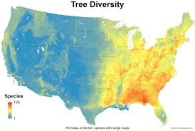 Usa Map Picture by Mapping The Usa U0027s Tree Diversity