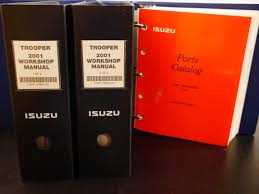fs trooper 2001 workshop manual and 1998 parts catalog isuzu