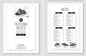 5 course menu template 60 time saving print templates for adobe indesign photoshop