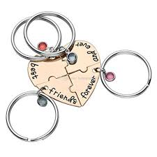 small key rings images Best friend forever and ever bff friend keychain set heart shape jpg