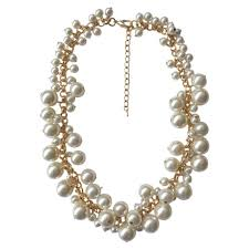 fashion jewelry pearls necklace images Molly pearl bauble necklace gold prep obsessed jpg