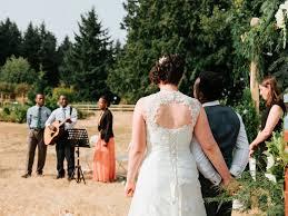 What To Wear To Backyard Wedding A Malagasy American Whidbey Island Backyard Wedding