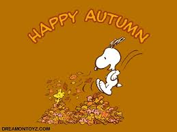 free cartoon graphics pics gifs photographs snoopy autumn