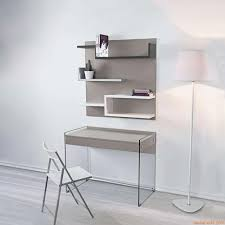 Schreibtisch Glasplatte My B Kombination Mit Schreibtisch Aus Glas Und Wandbücherregal