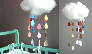 décorer la chambre de bébé soi même rainbow mobile diy crafty things mobile nuages