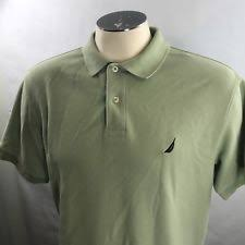 nautica mens classic fit striped polo shirt rolling green 18 6030