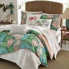 themed duvet cover pink blue green tropical hawaiian themed duvet cover set