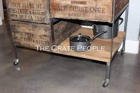 kitchen island crate combo on casters the crate people