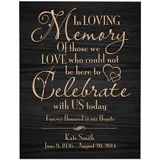 wedding memorial sign buy personalized wedding plaque in memory of a loved one in