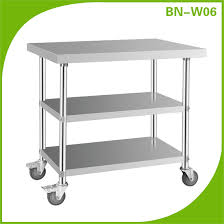 Kitchen Table With Wheels by Stainless Steel Work Table With Wheels Kitchen Equipment Used