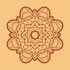 ornamental outline mandala vector square flyer card design