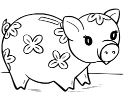 cute pigs coloring pages getcoloringpages com