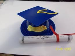 blue graduation cap blue graduation cap hat cake topper diploma cupcake candy cookie
