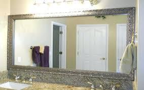 large bathroom mirror hanging bathroom mirrors with frame easywash club