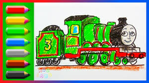 drawing coloring henry green engine thomas friends