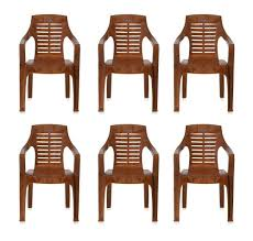 nilkamal set of 6 chairs mango wood u2013 homegenic