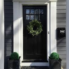 Door Exterior Eclectic Home Tour House Number 214 Black Front Doors Front