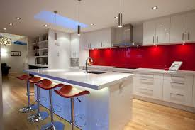 how high is a kitchen island back painted glass backsplash kitchen modern with high gloss