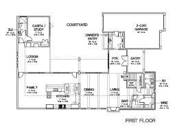 courtyard floor plans baby nursery house plans with enclosed courtyard house plans with