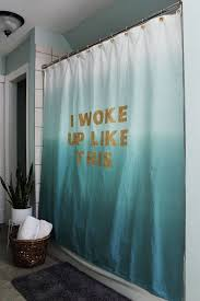 Cheap Shower Curtains Belt Your Best Beyonc礬 Impression A Stenciled Lyric Shower
