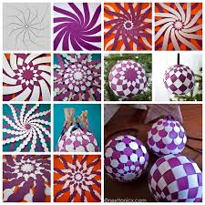 wonderful diy pretty woven paper baubles