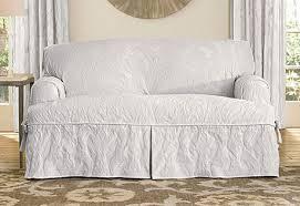 sure fit slipcovers matelasse damask one piece t cushion sofa t