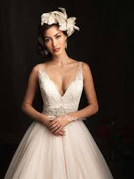 life styled events deep v neck sheer straps lace bodice wedding