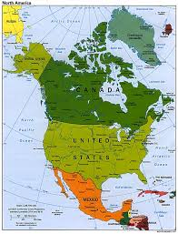 Geography Map North America Physical Map High Detailed North America Physical