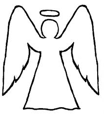angels picture angel coloring pages angel halo outline