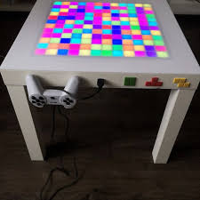 coffee table game console arduino led tetris table tetris gameplay led game table gaming