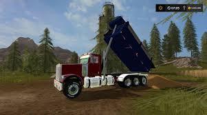 dump truck freightliner fld12064sd dump truck v1 1 fs17 farming simulator