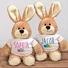 monogrammed bunny personalized easter bunnies stuffed bunnies giftsforyounow