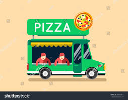 pizza food truck city car food stock vector 383407471 shutterstock