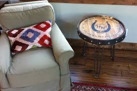 Whiskey Barrel Chairs High West Whiskey Barrel Table The Spotted Door