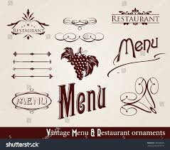 restaurant menu ornaments vector format stock vector 100330550