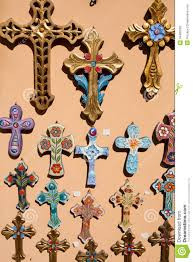 orthodox crosses orthodox crosses for sale in local shop stock photography image