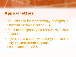 financial aid letter review