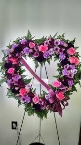 Purple Carnations Purple Wreath Arrangements Funeral Heart Wreath Form Of Purple