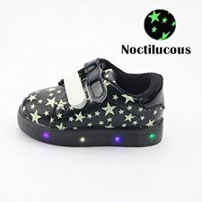 Kids Comfortable Shoes Kids Shoes Chickwin Cute Noctilucous Star Printing Leather Shoes