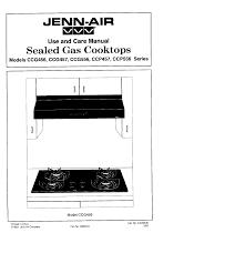 Jenn Air Gas Cooktop Troubleshooting Jenn Air Cooktop Ccg456 User Guide Manualsonline Com
