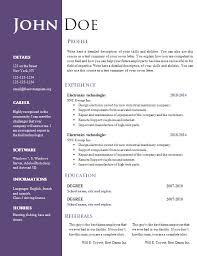 free unique resume templates creative free printable resume